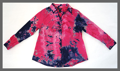 Pink Storm buttondown blouse