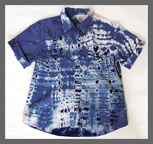 Blue Shibori  buttondown blouse