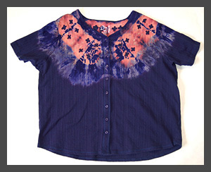 Positive Necklace buttondown blouse